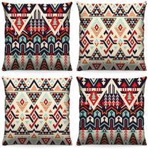Kit de 4 Capas de Almofada Decorativas 40cm x 40cm para Sala ou Quarto com Estampa Digital - Virô Presentes