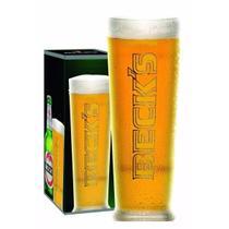 Kit de 4 Copo Cerveja Becks 300 Ml Taça Importado - Ambev