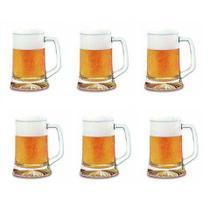 Kit De 6 Caneca Chopp Maxim Cerveja Vidro Temperado 280ml - Crisal