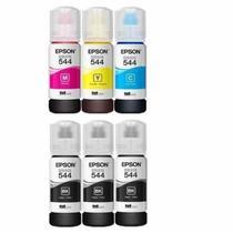 Kit De 6 Refil Tintas Epson T544 Original L3110 L3153 -