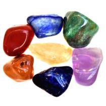 Kit de 7 Pedras Naturais dos Chakras Mandala de Luz P -