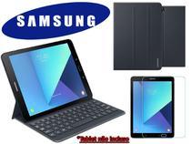 Kit de Acessórios Original Samsung Para Galaxy Tab S3 Capa Book Cover mais Capa Teclado e Película - Tablet não incluso -