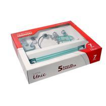 Kit de Acessórios para Banheiro Ouro Fino Unic 7 Peças Transparente -