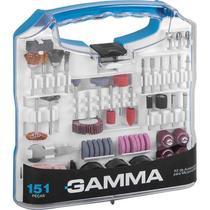 Kit de Acessórios para Microrretífica com 151 Peças G19507AC GAMMA -