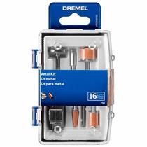Kit de Acessórios para Mini Retífica Dremel com 16 Peças 734 p/ Metal DREMEL -
