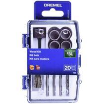 Kit de Acessórios para Mini Retífica Dremel com 20 Peças 733 p/ Madeira DREMEL -