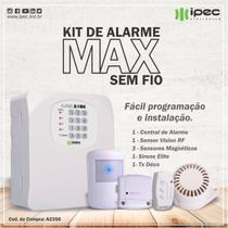 Kit de Alarme sem fio - Instala Fácil 4 setores AL4 Max IPEC -