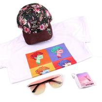 Kit de Aniversario Muze Shop Feminino - Boné - Óculos de Sol - Camiseta - Chaveiro - Prorider
