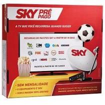 Kit De Antena Parabólica Sky 60 Cm + Receptor Digital Sky Pré Pago Flex Sd -