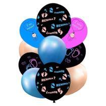 Kit de Balões Chá Revelação c/10 Happy Day -