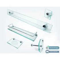 Kit De Banheiro ! 5 Peças vidro incolor - Ca&Lu Vidros