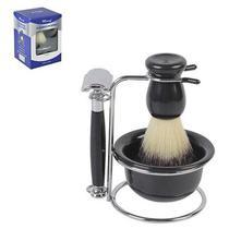 Kit de Barbear com Pincel, Pires, Barbeador e Suporte - Wincy -