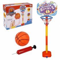Kit de basquete infantil ate 110cm cesta tabela com bola e bomba de ar kids esporte - Gimp