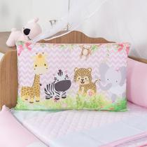 Kit de Berço Safari Menino Menina Savana Animais 10 Peças - Anjos Enxovais