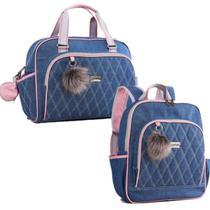 Kit de bolsa e mochila maternidade Havana Rosa - Just Baby -