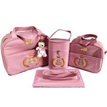Kit De Bolsas De Bebe Saida Maternidade Rosa - Mk Baby