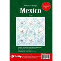 Kit de Bordado Tulip Sashiko - México Pansy -