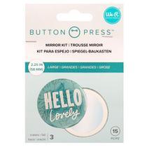Kit de Botton Espelho Button Press We R - 3 Unidades - American Crafts