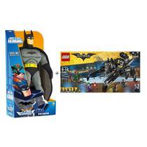 Kit De Brinquedos Com 1 Boneco Batman Flying Friends + Lego Batman Movie O Fugitivo 775 Peças -