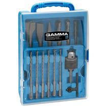 Kit de Brocas, Ponteira e Talhadeira SDS-Plus para Martelete com 14 Peças G19533AC GAMMA -