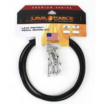 Kit de cabos para pedais Lava Cable Premium Piston solder-free - preto -