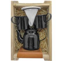 Kit de Café Individual - PRETO - Demolição com engradado - Utensilios Do Chef