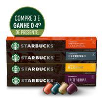 Kit de Cafés Starbucks by Nespresso-3cx +1cx presente -