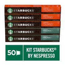Kit de Cafés Starbucks Colombia e Pike Place by Nespresso - 50 cápsulas -