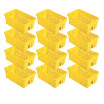 Kit de Caixinha de Luz Tramontina PVC Amarelo 4x2 25 Unidades -