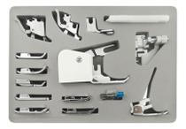 Kit de calcadores maquina de costura domestica 15 peças - Singer
