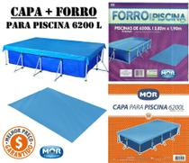 Kit de Capa mais Forro Piscina Premium - 6.200 L  - Mor -
