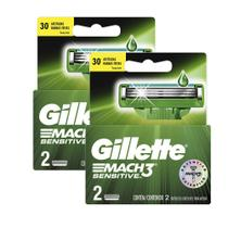 Kit de Carga Gillette Mach3 Sensitive com 8 Unidades -
