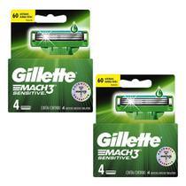Kit de Carga Gillette Mach3 Sensitive com 8 Unidades -