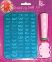 Kit de Carimbo para Unhas - - Nail Art