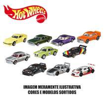 Kit de Carrinhos Hot Wheels - 1:64 - Veículos Básicos - 10 Carrinhos Sortidos - Mattel -