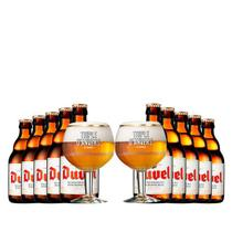 Kit de Cervejas Duvel com 02 Taça Triple Danvers - Kits
