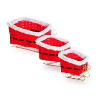 Kit de cestas oval vermelha noel: 1410459 JG C/3 UN - Cromus