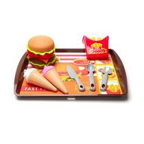 Kit De Comida Fast Food Com Sorvete De Brinquedo - Only Toys -