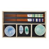 Kit de comida japonesa p 2 pesoas 24,5cm x 15cm x 2,5cm - Btc decor