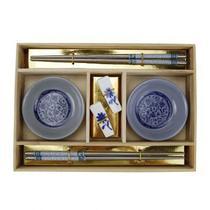 Kit de comida japonesa p 2 pesoas 25,5cm x 18cm x 3,50cm - Btc decor