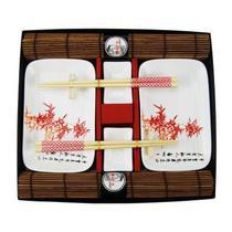 Kit de comida japonesa p 2 pesoas 31cm x 27cm x 3,5cm - Btc decor