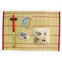 Kit de comida japonesa para 1 pessoa vermelho btc -