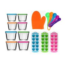 Kit de Cozinha 17 peças  Potes de Vidro + Luva + Formas + Conjunto de Medidas - Sm Lar