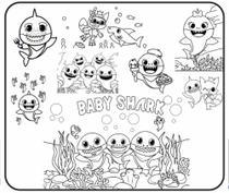 Kit de desenho gigante para colorir - baby shark - Beco Dos Papéis