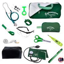 Kit de enfermagem completo com medidor de pressão Premium - Premium / G-Tech