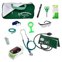 Kit De Enfermagem Completo Oximetro Top Bolsa Cores Estagio - P.A.Med