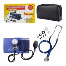 Kit De Enfermagem Esfigmomanometro + Esteto Duplo Rappaport Premium -