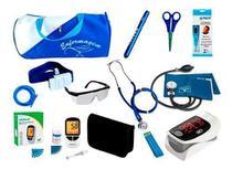 Kit de Enfermagem Super Luxo com Aparelho de Pressão Rosa Premium c/ Bolsa tipo 2 - Premium, G-Tech, Bic