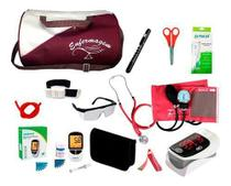 Kit de Enfermagem Super Luxo com Aparelho de Pressão Vinho Premium c/ Bolsa modelo 2 - Premium, G-Tech, Bic