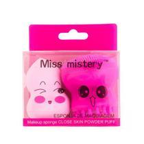 Kit de Esponjas Para Limpeza Facial e Maquiagem Blend Miss Mistery -
